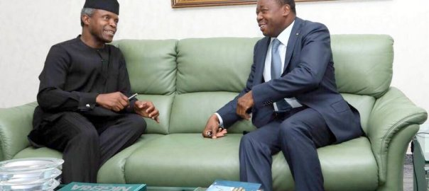 Acting President Yemi Osinbajo and Togolese President and ECOWAS Chairman, Faure Gnassingbe