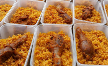 Jollof rice {Photo credit: Wives Connection]