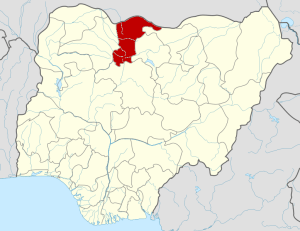 Katsina State on map