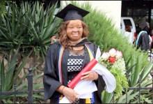 Nkechi Okwuchi during her graduation