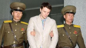 Otto Warmbier (middle) [Photo Credit: Know Your Meme]