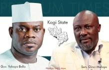 Governor Yahaya Bello of Kogi State and the Senator Dino Melaye of Kogi West Senatorial District