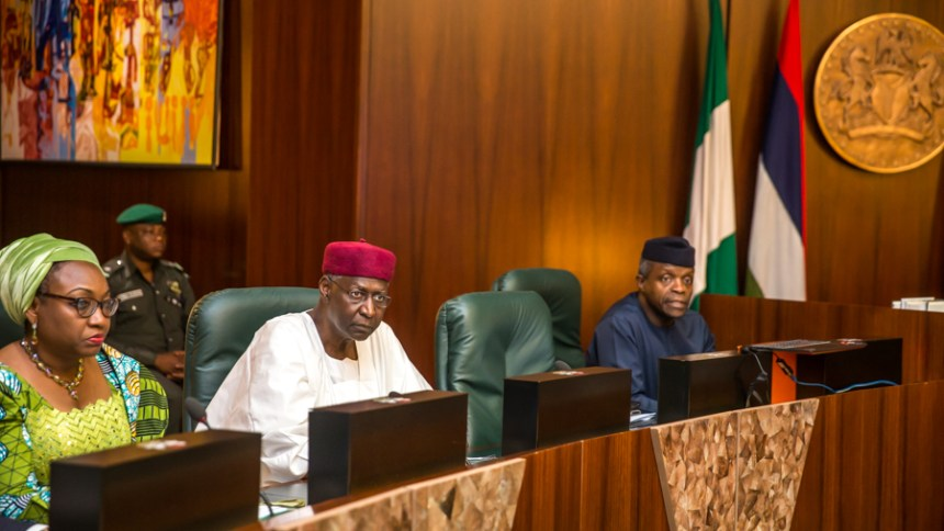 Acting President, Yemi Osinbajo at the FEC of 5th July 2017