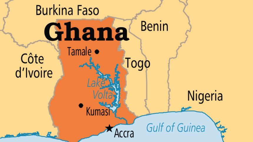 Ghana on map