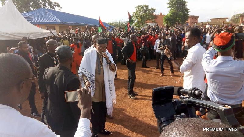 Nnamdi Kanu speaking in Abakaliki