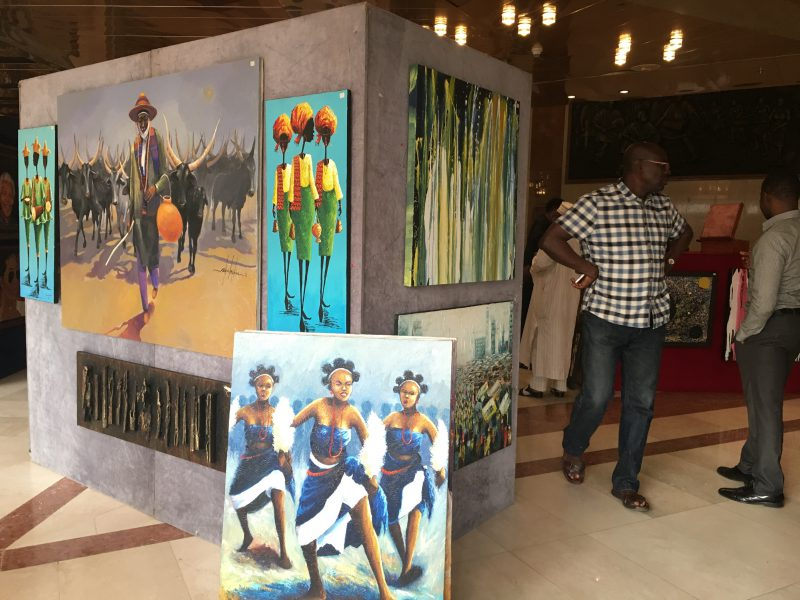 Photo from art exhibition to raise awareness on Hepatitis B used to illustrate the story