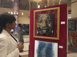Photo from art exhibition to raise awareness on Hepatitis B
