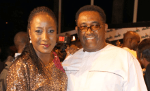 Ireti and Patrick Doyle when the going was good