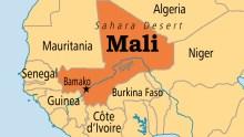 Mali on map