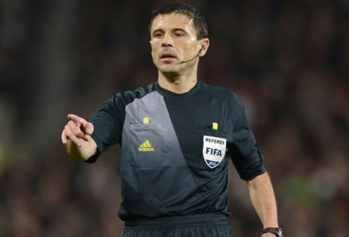 Image: 0144615267, License: Rights managed, Oct. 23, 2012 - Manchester, United Kingdom - Referee Milorad Mazic - UEFA Champions League Group H - Manchester Utd vs Sporting Braga - Old Trafford Stadium - Manchester - England - 23/10/12 - Picture Simon Bellis/Sportimage, Place: United Kingdom, Model Release: No or not aplicable, Credit line: Profimedia.com, Zuma Press - News