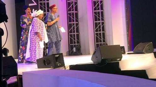 NKEM OWOH recieving his award