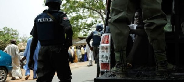 Nigerian Police on patrol