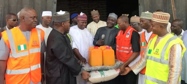 Donation of relief materials to returnees and communities affected by Boko Haram by Presidential Committee on North East Initiative, PCNI.