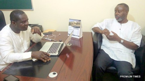 Editor-in-Chief of PREMIUM TIMES, Musikilu Mojeed (L) and AFRICMIL coordinator, Chido Onumah (R)