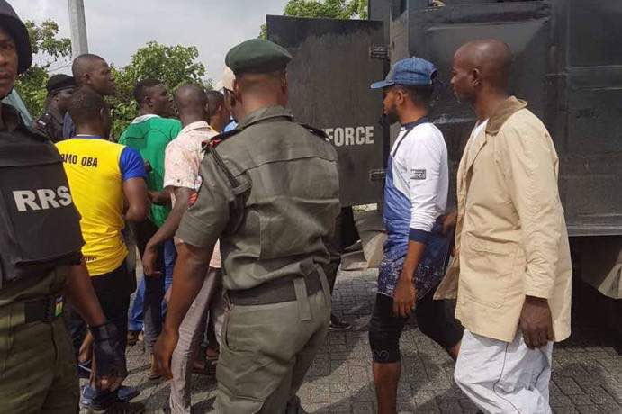 File photo of Police arresting suspected members of the dreaded Badoo gang