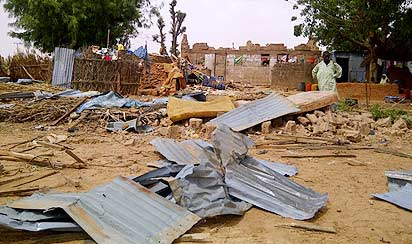 A photo a wrecked buildings used to illustrate the story. [Photo: Nigerian Breaking News - WordPress.com]