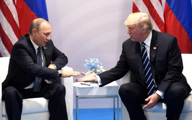 U.S. President Donald Trump (R) and Russian President Vladimir Putin (L) [Photo: NAN]