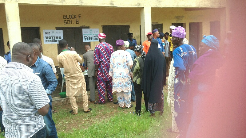 Accreditation and voting are ongoing
