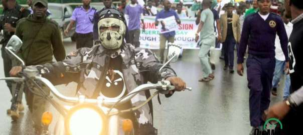 Anti-Buhari protesters in Abuja