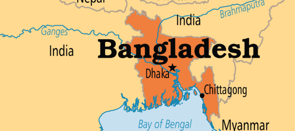 Bangladesh on map. [Photo Credit: Operation World]