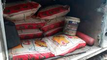 Contraband rice seized by the Nigerian Customs Service
