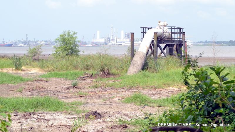A Chevron riser that pumps crude from Escravos to Kaduna Refinery