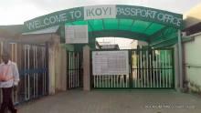 Entrance of Ikoyi passport office