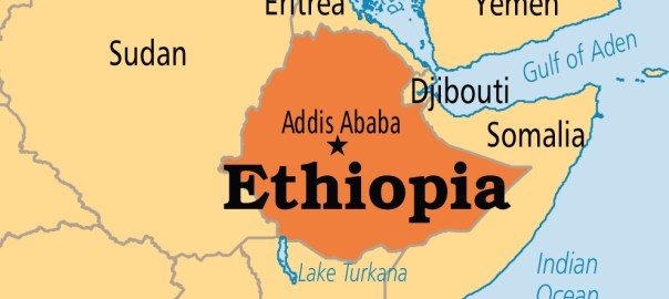 Ethiopia on Map used to illustrate the story.