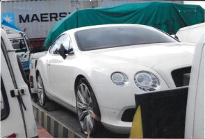 Exotic cars impounded by Nigeria Customs
