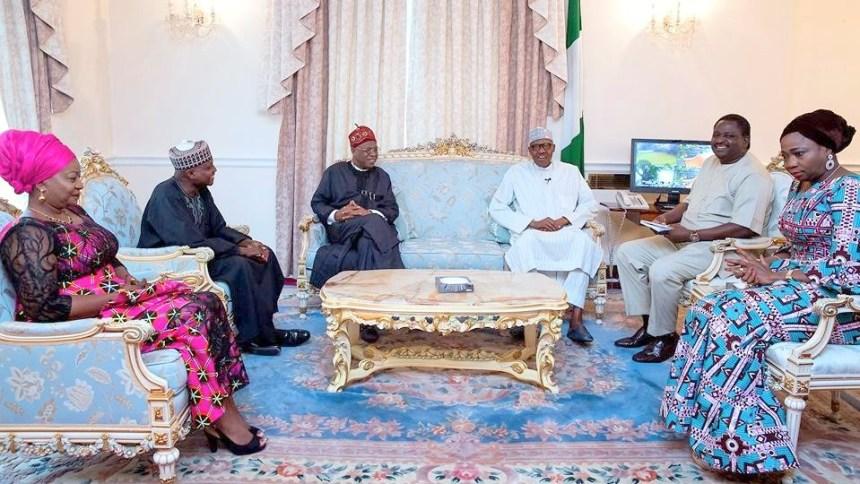 Buhari meets Abike Dabiri, Lai Mohammed, others in London
