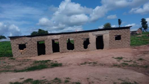 Dilapidated primary school block in Gaate village, Nassarawa.