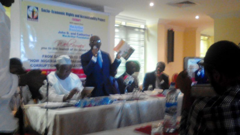 """Mr. Falana speaking in Lagos on Wednesday at the launch of a report by the Socio-Economic Rights and Accountability Project, SERAP, titled """"From Darkness to Darkness: How Nigerians are paying the price for corruption in the electricity sector."""""""