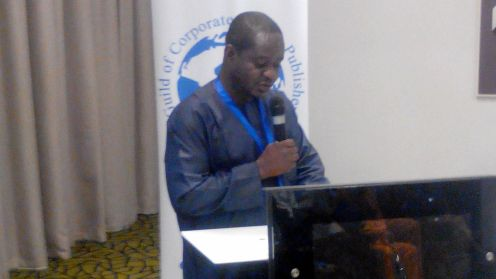Editor-in-Chief of PREMIUM TIMES, Musikilu Mojeed, speaking in Lagos at the annual conference of the Guild of Corporate Online Publishers, GOCOP