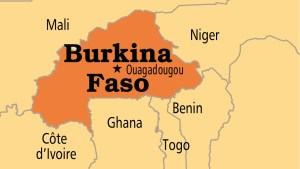 Burkina Faso on map used to illustrate the story.
