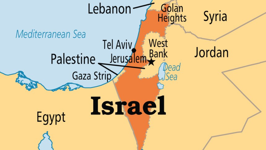 Israel on map