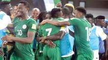 Mikel Obi celebrating with team-mates [Photo: Guardian Nigeria]