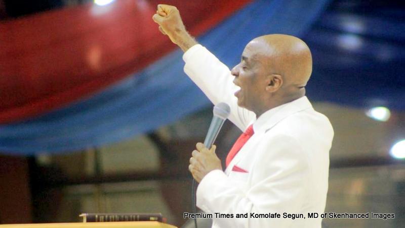 Bishop David Oyedepo preaching