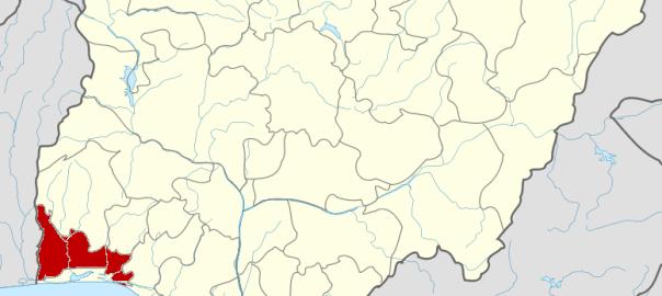 Ogun on map