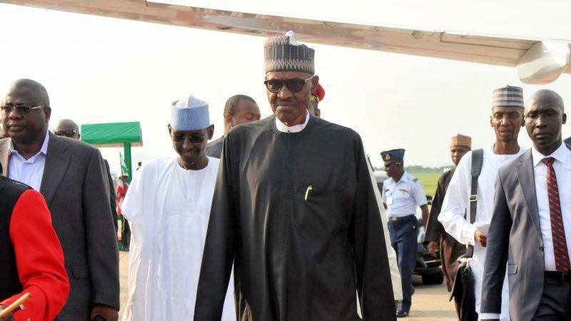 President Muhammadu Buhari arriving Nnamdi Azikiwe International Airport in Abuja on Saturday (19/8/2017)  04387/19/8/2017/Callistus Ewelike/NAN
