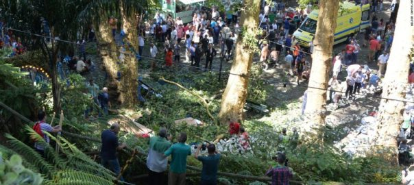 Tree falls into crowd killing at Catholic festival in Portugal. [Photo Credit: CNN.com]