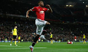 Manchester United's Anthony Martial celebrates scoring his side's fourth goal of the game during the Carabao Cup, Third Round match at Old Trafford, Manchester. PRESS ASSOCIATION Photo. Picture date: Wednesday September 20, 2017. See PA story SOCCER Man Utd. Photo credit: Martin Rickett/PA Wire. (Photo Source: DailyMail)