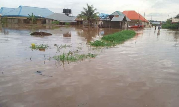 Benue flood. [Photo credit: Bella Naija]