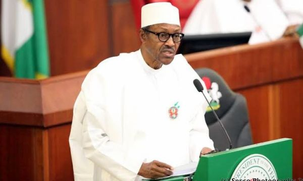 Buhari in NASS [Photo Credit: Linda Ikeji's Blog]