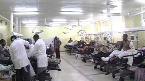 Doctors attending to patients at National Hospital