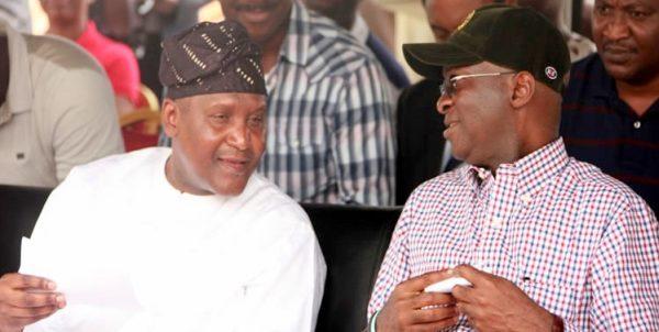 FAshola and Dangote [Photo credit: MetroWatchOnline]