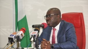 The Edo State Governor, Godwin Obaseki. [Photo credit: YouTube]