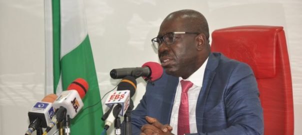 The Edo State Governor, Godwin Obaseki, who succeeded Adams Oshiomhole.[Photo credit: YouTube]