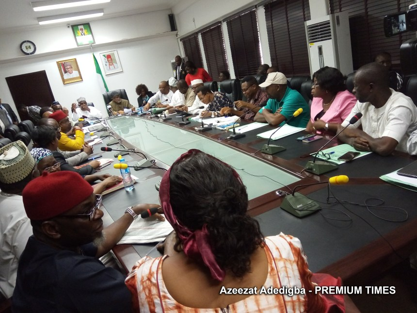 ASUU and FG Delegates. Photo: Premium Times
