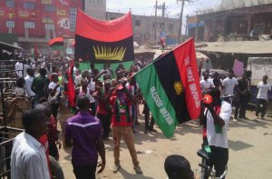IPOB Protesters: [Photo credit: Daily Post Nigeria]