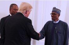 President Muhammadu Buhari with U.S. President Donald Trump